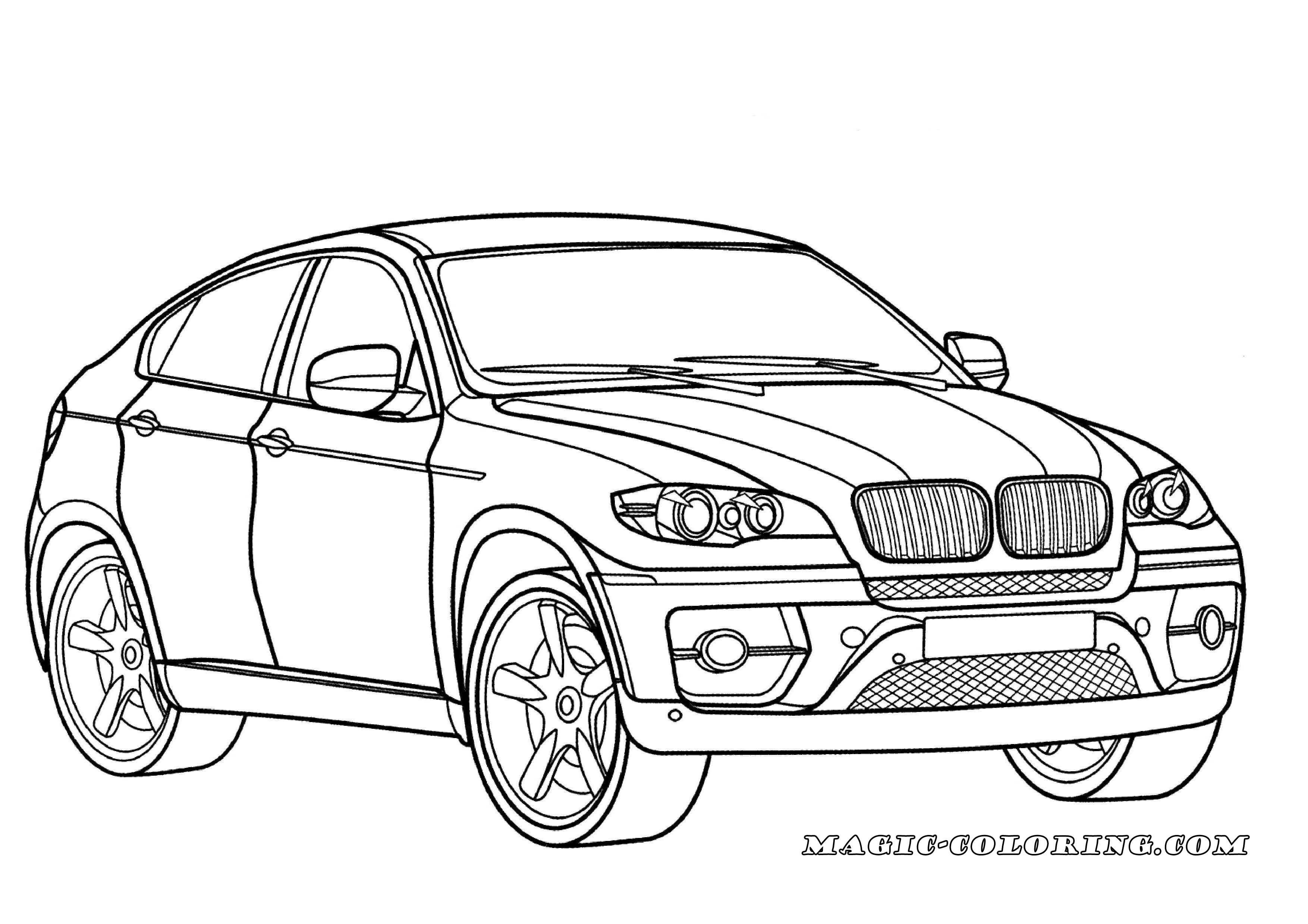 Transportation Coloring Pages Bmw Cars Coloring Pages With