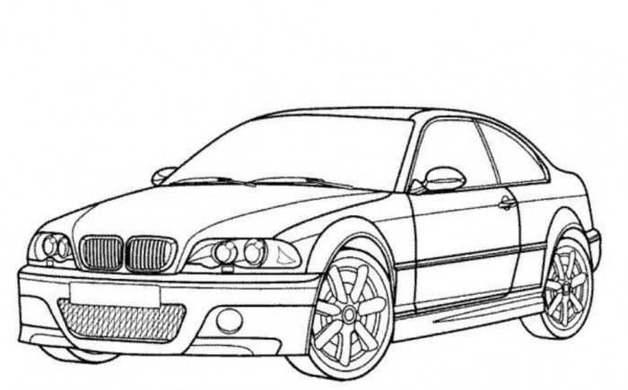 Bmw M3 Car Coloring Pages Printable Free Online Cars Coloring