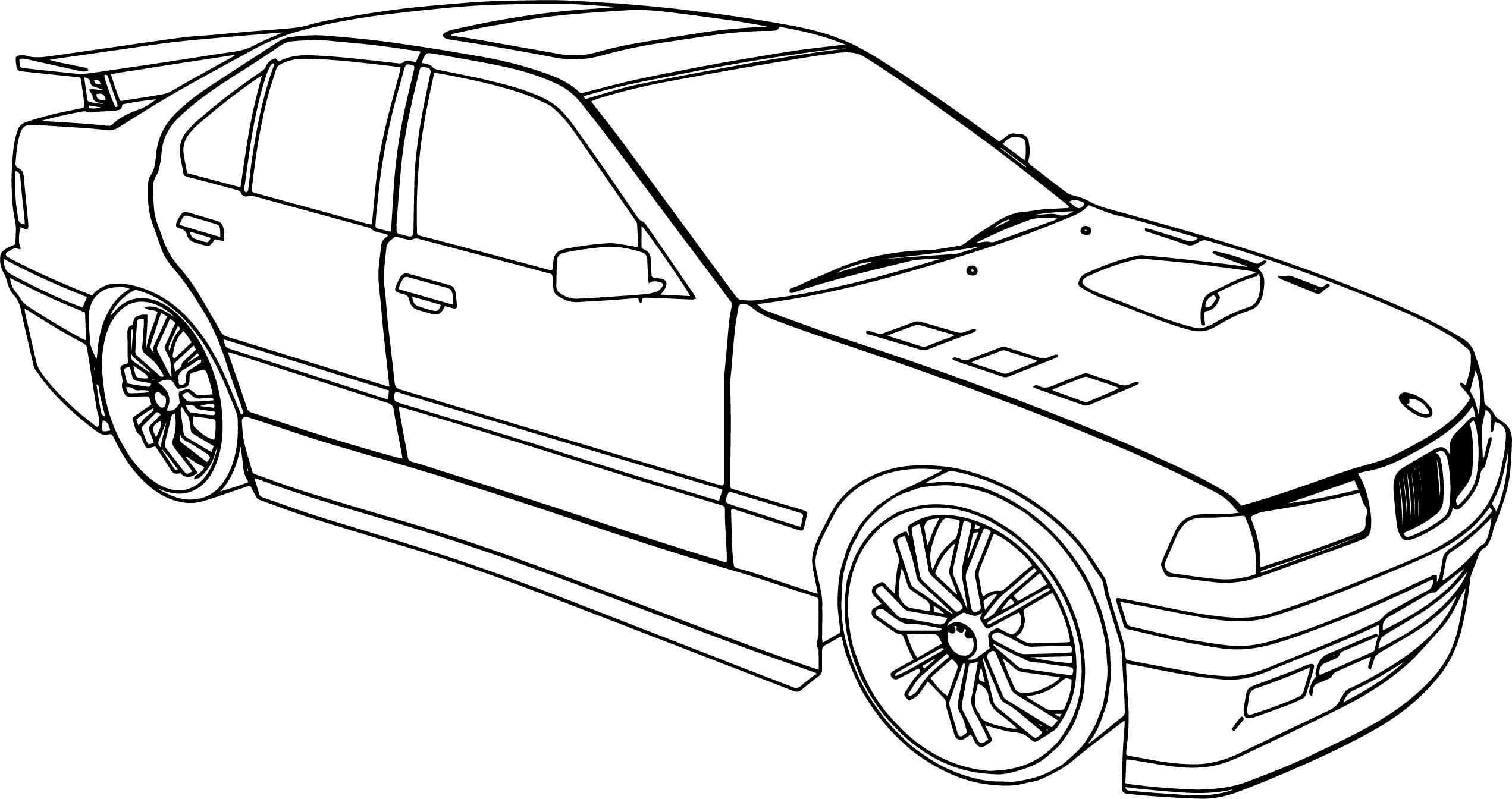kleurplaat auto bmw