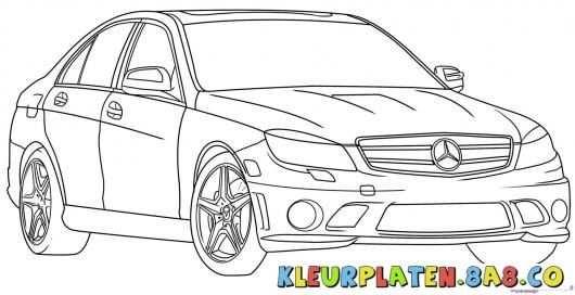 Afbeeldingsresultaat Voor Kleurplaat Mercedes Met Afbeeldingen