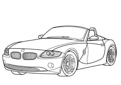 Bmw Z4 Cabriolet Coloring Page Jpg 465 328 Met Afbeeldingen