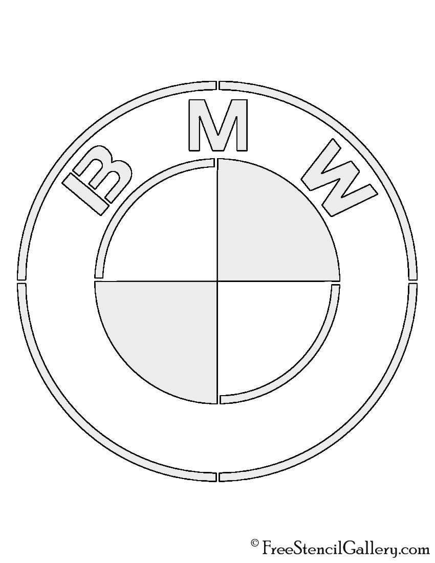 Bmw Logo Stencil Knutselen