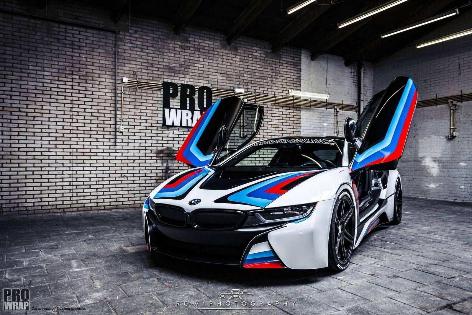 Bmw I8 Gets An M Livery Custom Bmw Bmw I8 Luxury Hybrid Cars