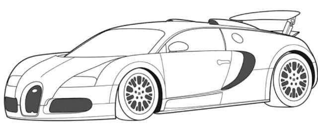 Bugatti Veyron Super Car Coloring Page Bugatti Car Coloring