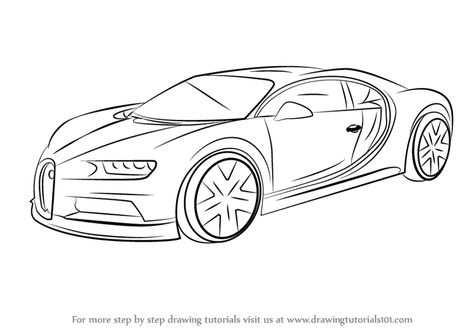 Kleurplaat Auto Bugatti