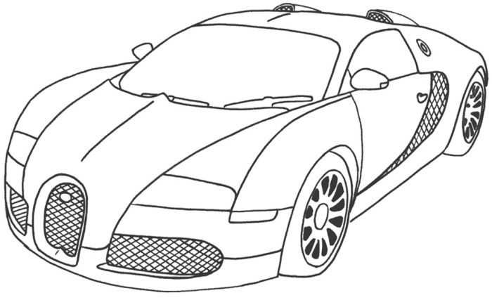 Best Car Sport Bugatti Veyron Coloring Page With Images Race
