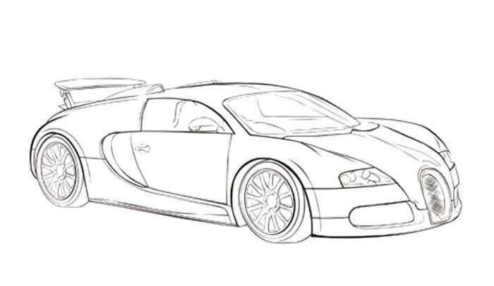 Car Sport Bugatti Veyron Coloring Page Bugatti With Images