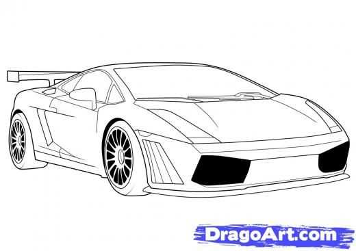 How To Draw A Lamborghini Step By Step Drawing Guide By