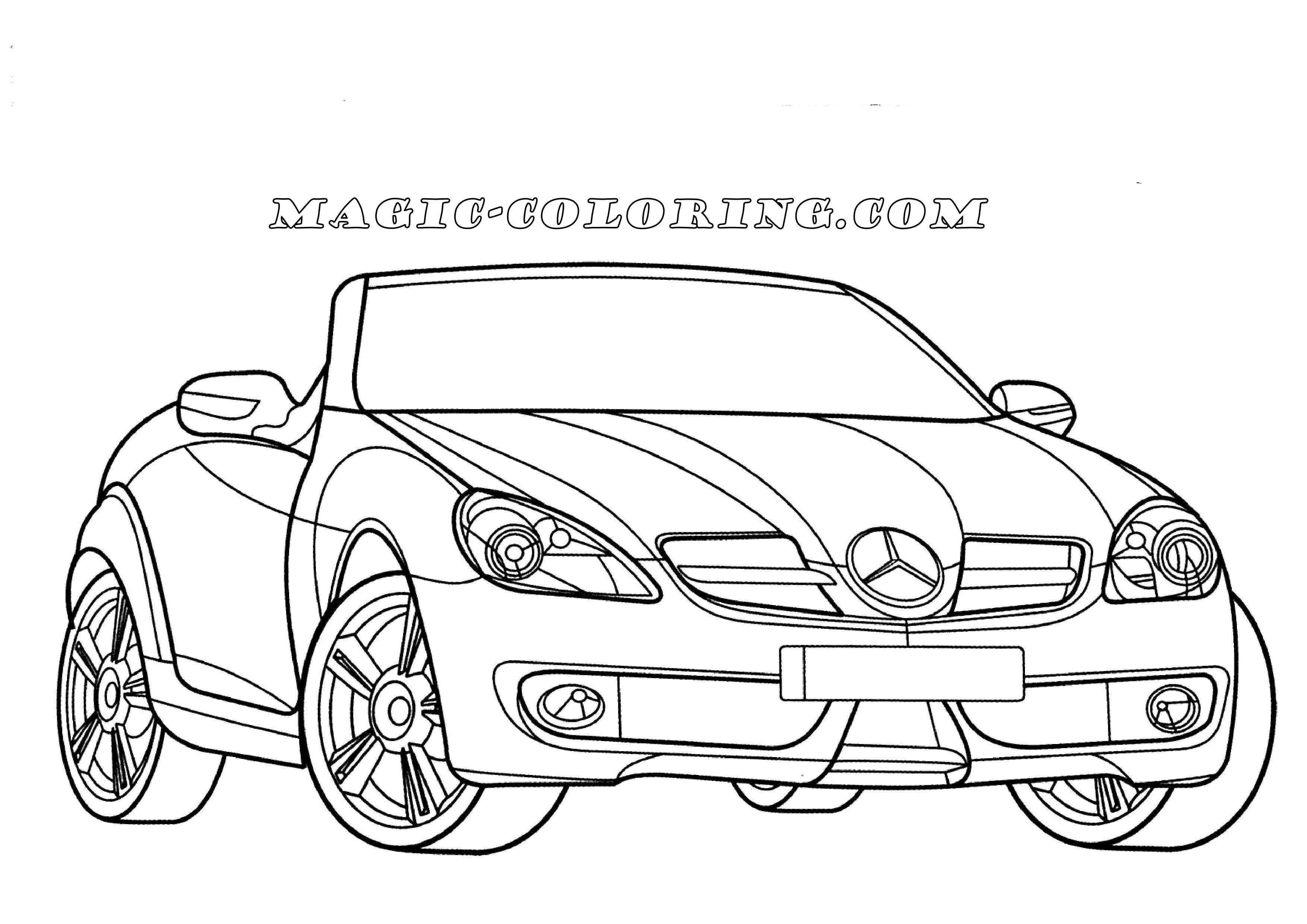 Transportation Coloring Pages With Images Mercedes Benz Slk