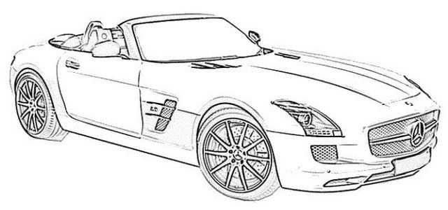 The 10 Most Awesome Convertible Coloring Pages For Car Lovers