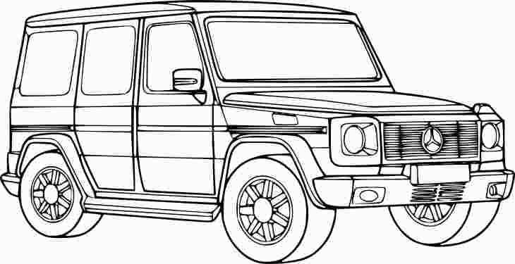 G Wagon Coloring Page With Images Cars Coloring Pages 4x4