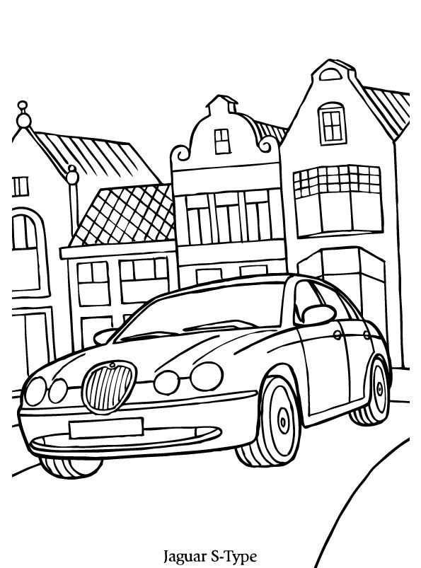 kleurplaat auto mini