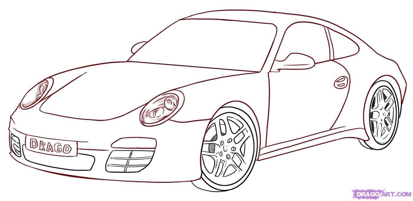 How To Draw A Porsche Step By Step Drawing Guide By Darkonator