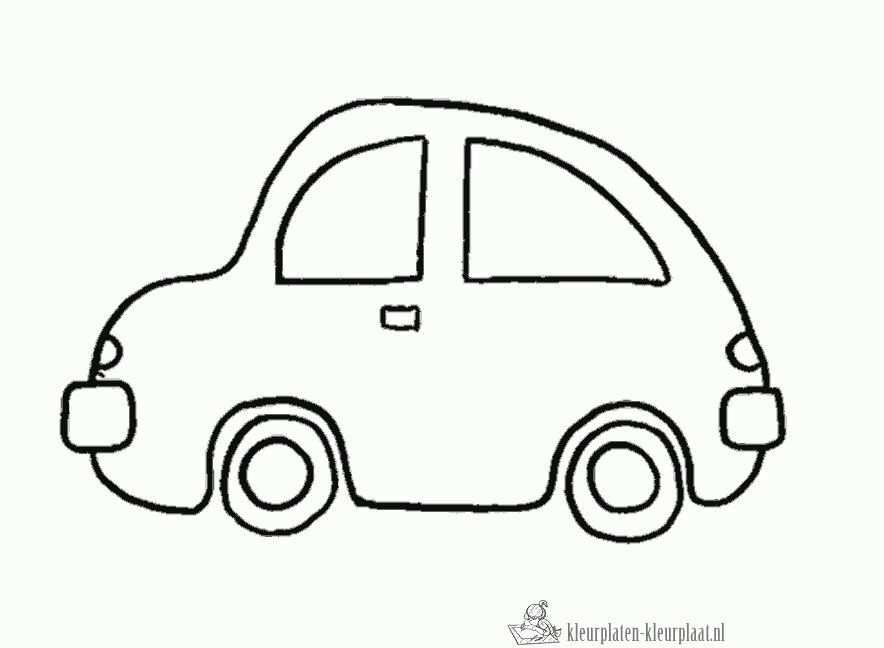 Kleurplaat Auto Verjaardag Papa Knutselen Peuter Peuter Auto