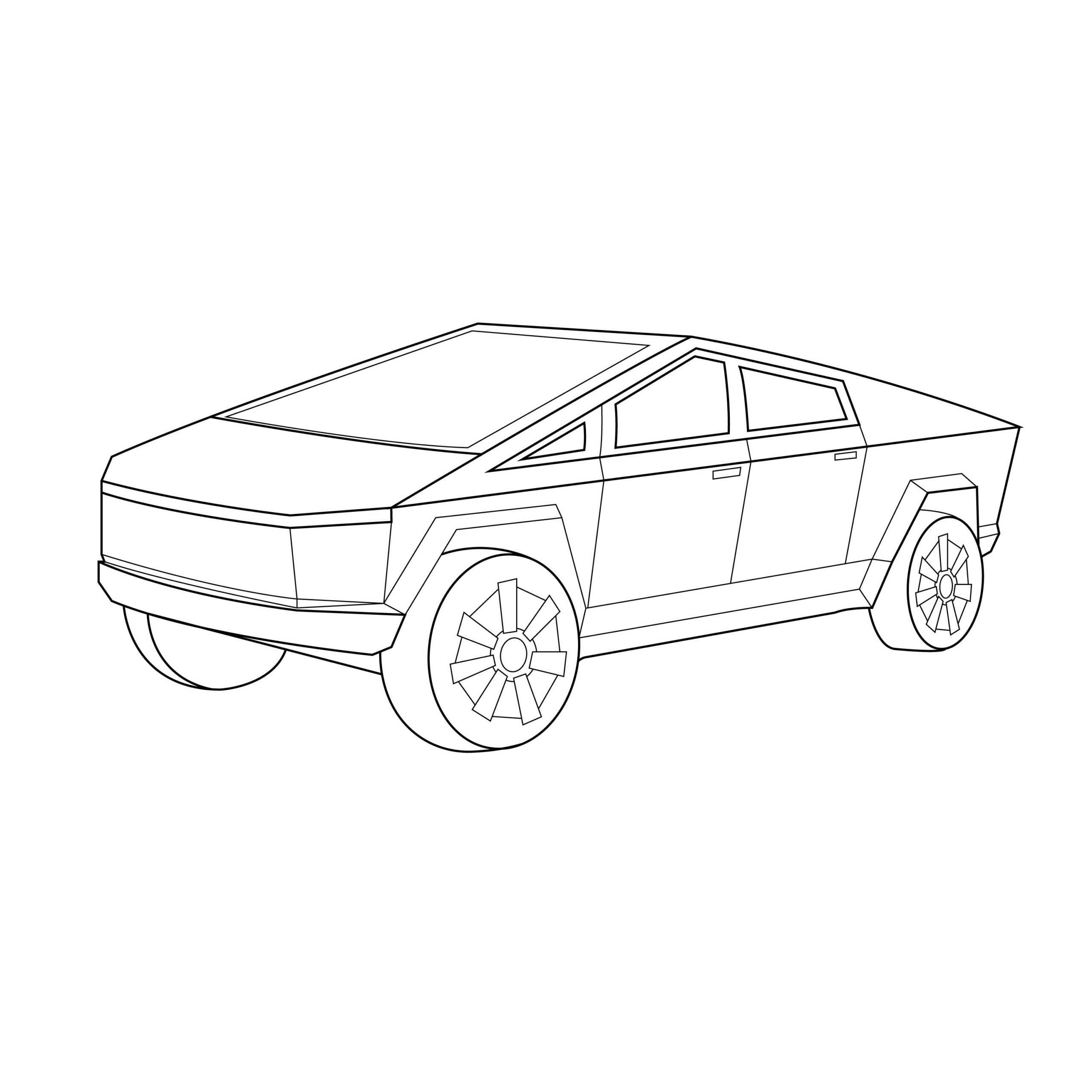 Line Drawing Of The Tesla Cybertruck In 2020 Line Drawing