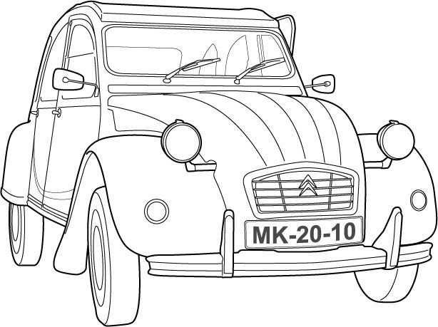 Bilderesultater For Cool Drawing 2cv Met Afbeeldingen Auto