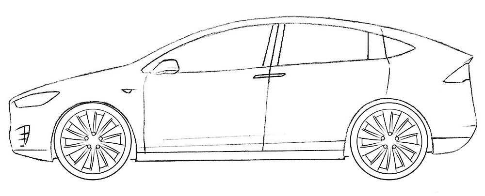 Tesla Model X Coloring Page In 2020 With Images Tesla Model X