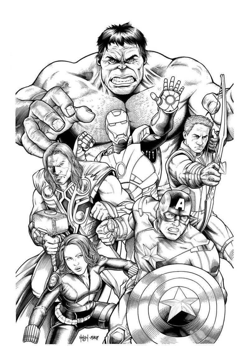 Marvel Comics Avengers Coloring Pages Di 2020 Dengan Gambar