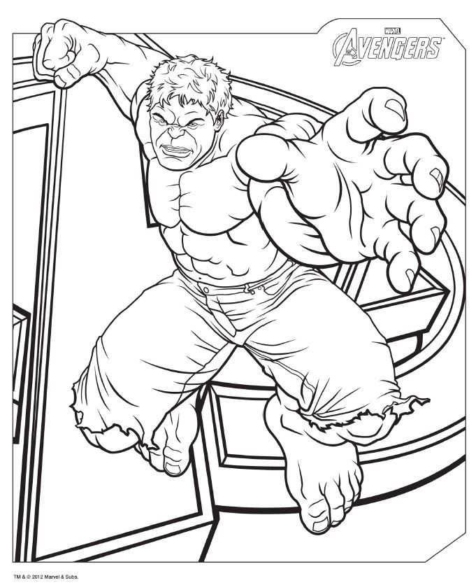 Download Avengers Coloring Pages Here Hulk Met Afbeeldingen