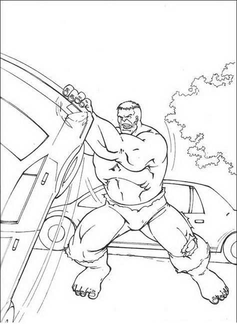 Kleurplaten Hulk 38 Con Imagenes Dibujos Paginas Para
