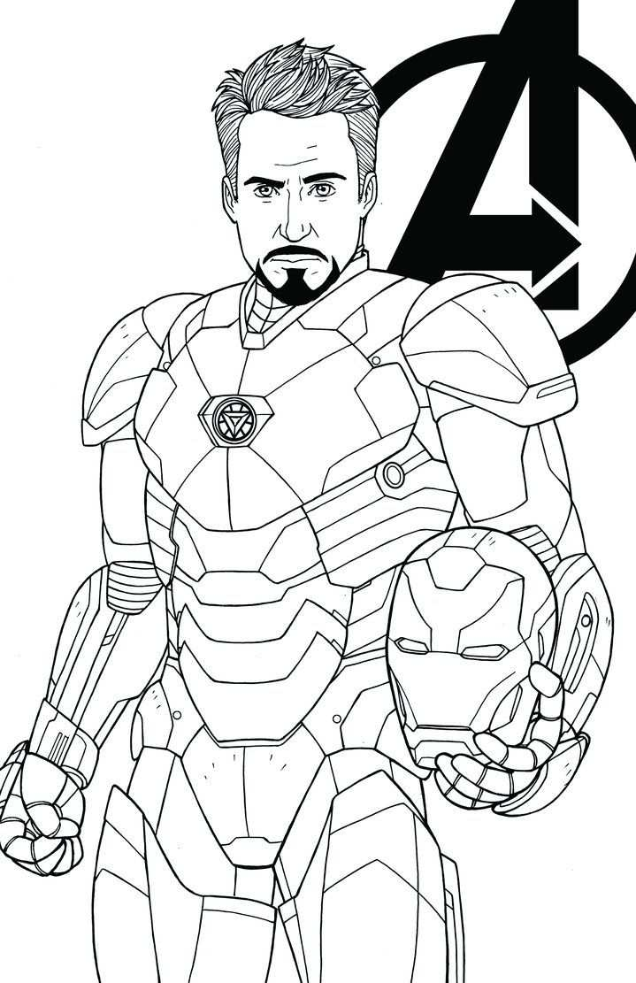 Tony Stark Robert Downey Jr By Jamiefayx Desenhos Para Colorir