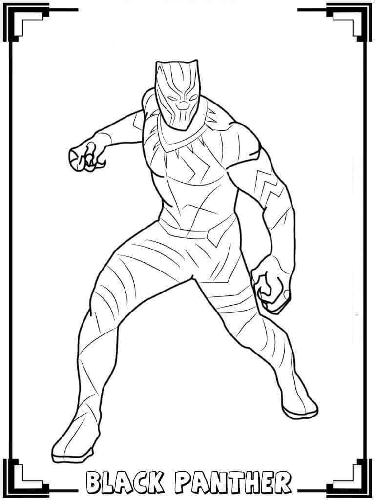 Free Printable Black Panther Coloring Pages With Images