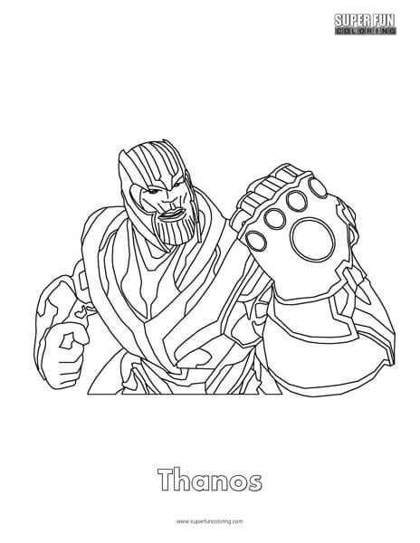 Thanos Fortnite Coloring Page Kleurplaten Tekenen Textiel