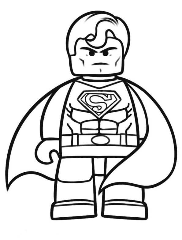 Coloring Page Lego Movie Lego Movie With Images Superhero