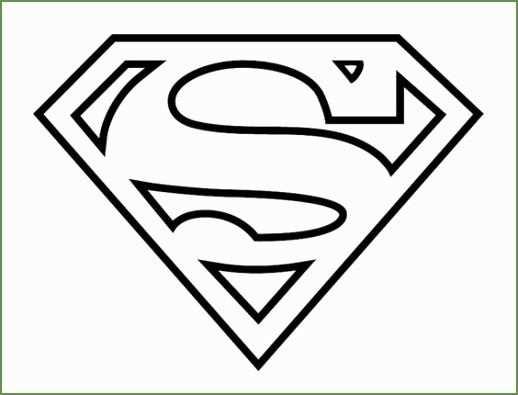 Superman Kleurplaat Di 2020 Dengan Gambar Superman Logo Ide