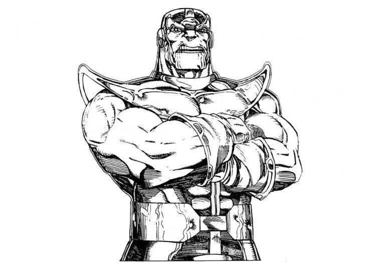 Kleurplaat Avengers Thanos