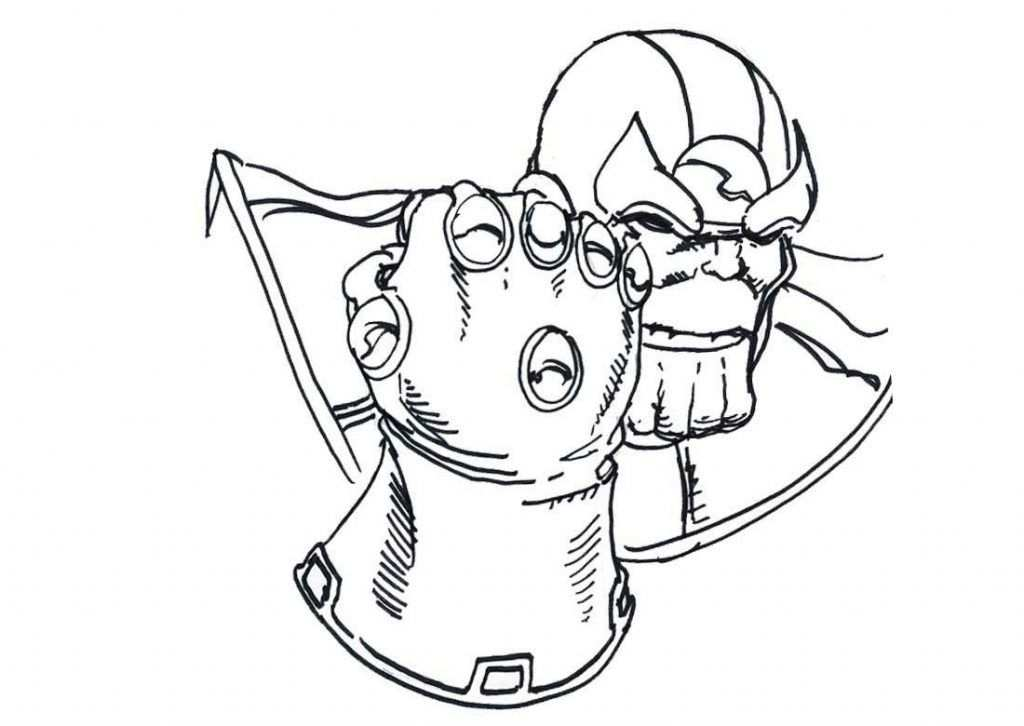 Thanos Coloring Pages With Images Avengers Coloring Pages