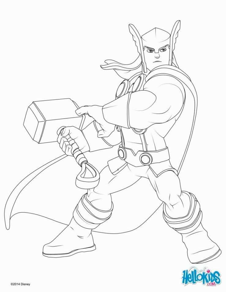 Thor Coloring Page With Images Superhero Coloring Pages