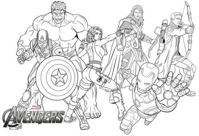 New Avengers Endgame Coloring Page For Marvel Fans Met