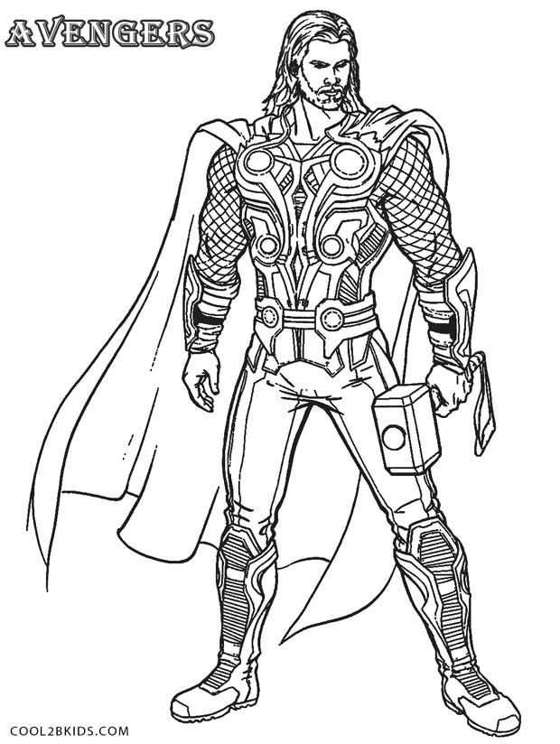 Thor Coloring Pages Omaľovanky Postery Levis