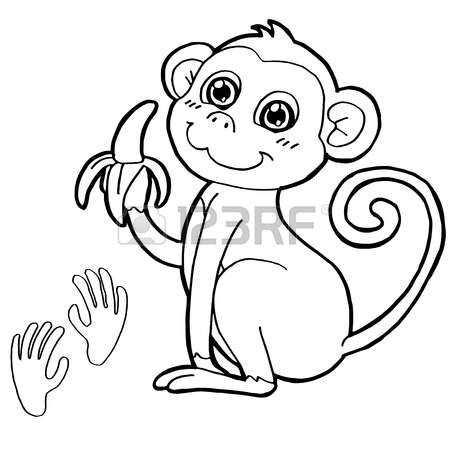 kleurplaat baby aapjes