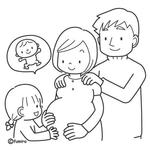 New Baby Is Arriving Free Coloring Pages Knutselen Thema Baby