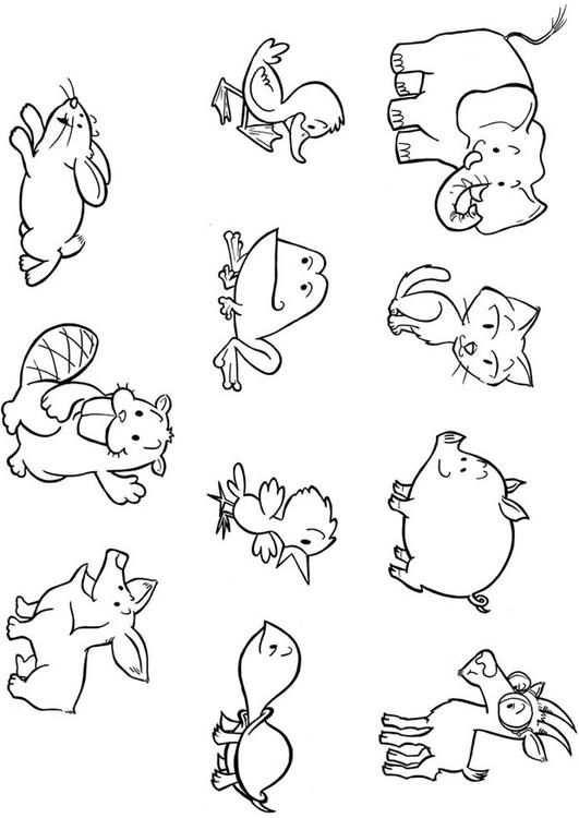 Kleurplaat Baby Dieren Gratis Kleurplaten Om Te Printen Baby