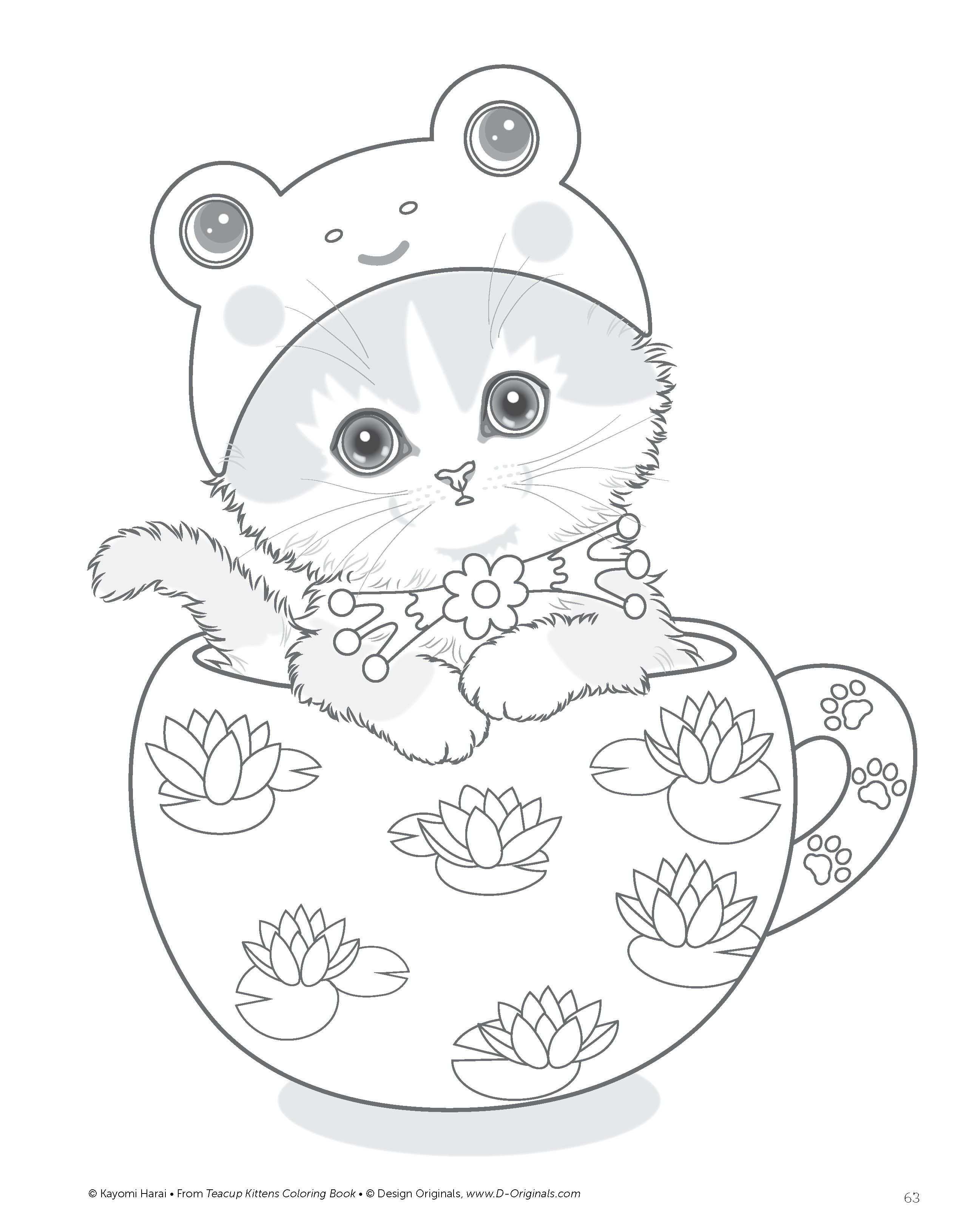 kleurplaat baby katjes