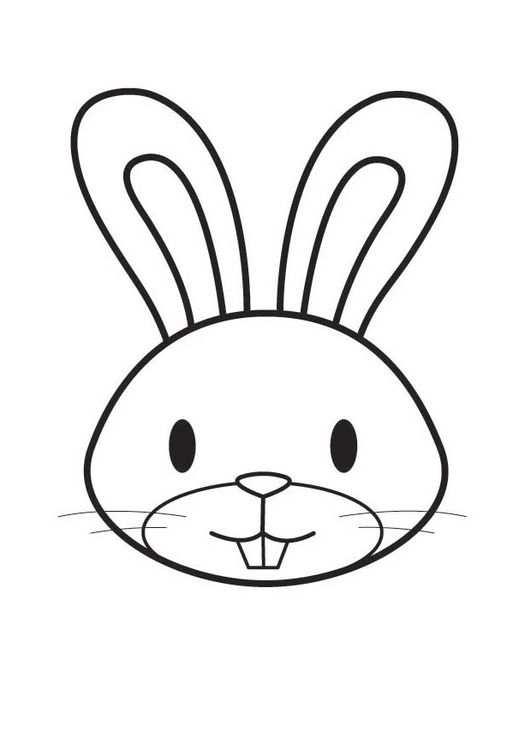 Kleurplaat Kop Konijn Disegno Coniglietto Lavoretti Per Bambini