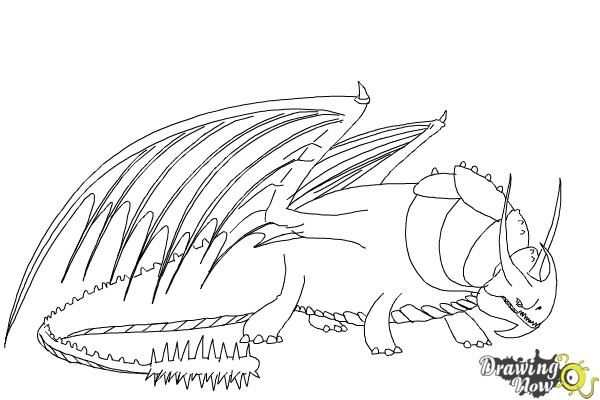 How To Draw Skullcrusher From How To Train Your Dragon 2 Step 8