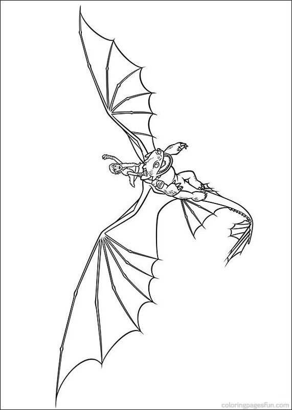 How To Train Your Dragon Coloring Pages Hiccup And Toothless