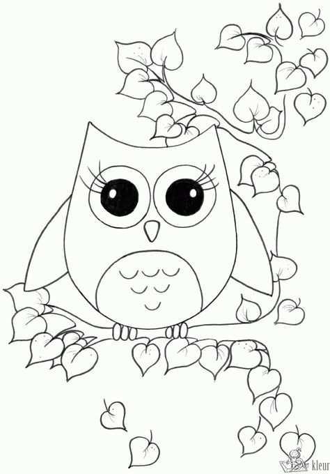 Schattige Kleurplaten Uiltjes Google Zoeken Owl Coloring Pages