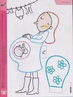 Moeder Met Kind Knutselen Thema Baby Baby Baby En Baby Geboorte