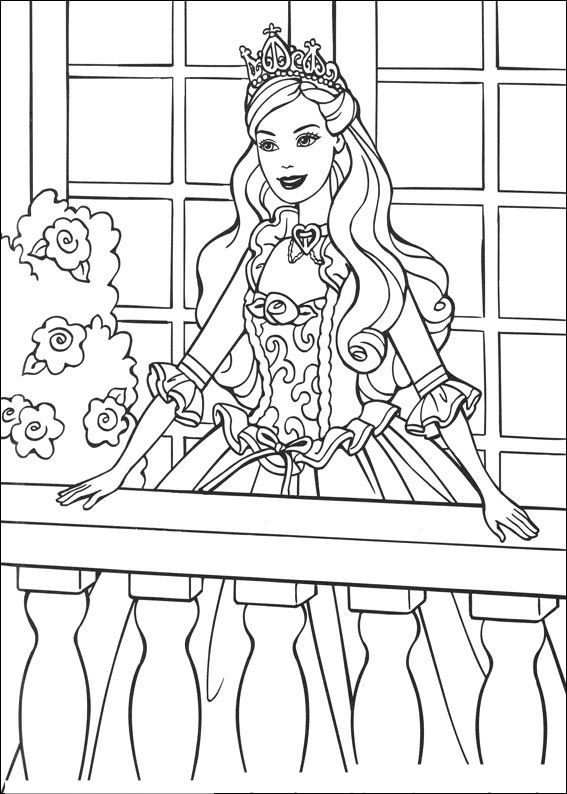 Barbie En De Bedelaar Kleurplaat Barbie Coloring Princess