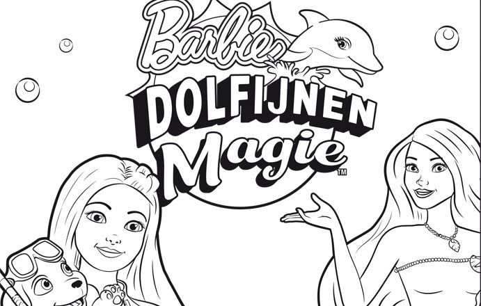 Kleurwedstrijd Barbie En Buurman Buurman Barbie Kleurplaten