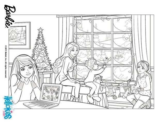 Barbie In A Perfect Christmas Coloring Pages Barbie S Christmas