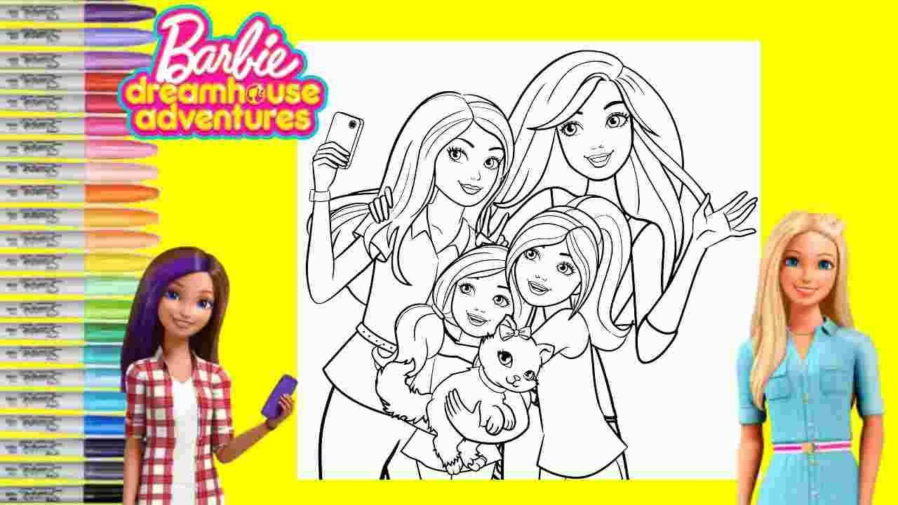 Barbie Dreamhouse Adventures Coloring Pages Barbie Coloring