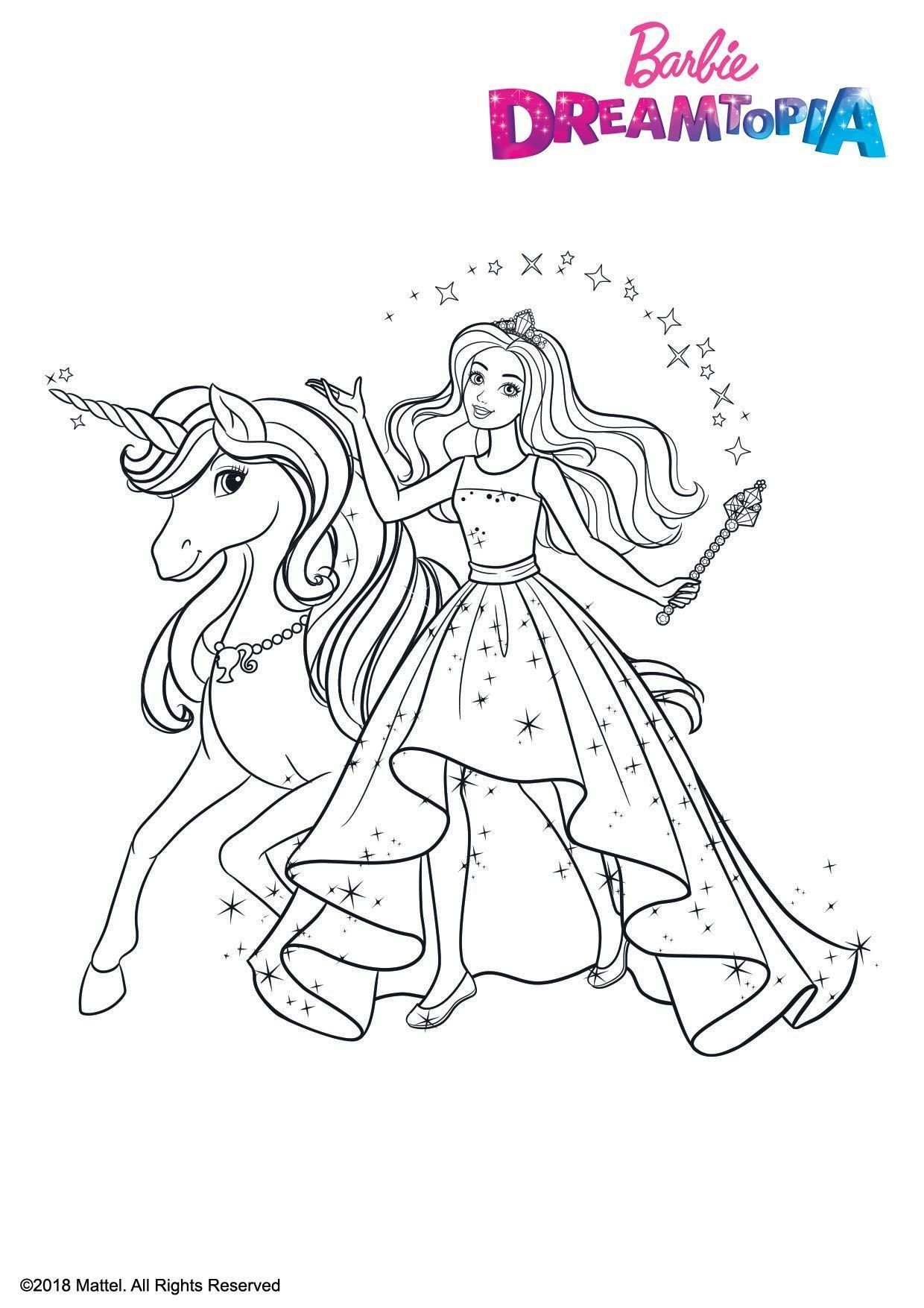 Pin By Paula Lowery On Color Me Happy Barbie Coloring Pages