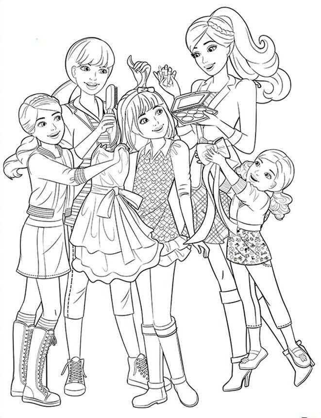 Barbie Sisters Coloring Page With Images Barbie Coloring Pages