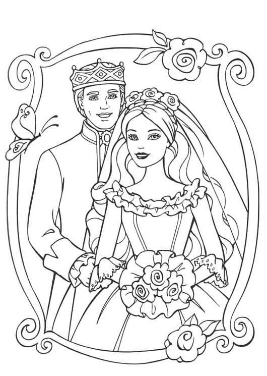 Photos Wedding Barbie Pauper With Prince Coloring Images